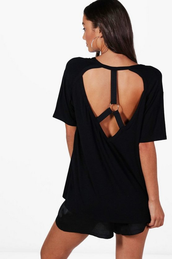 Tall Lyra Harness Back Detail Oversized T-Shirt