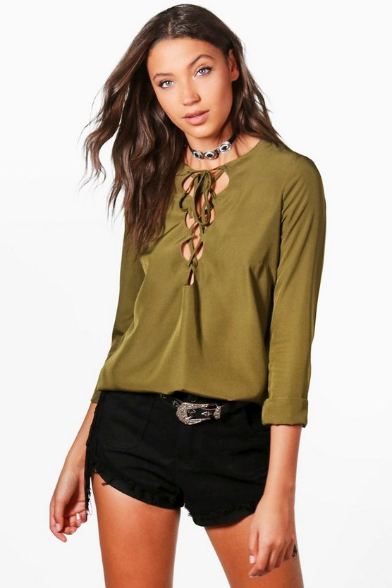 Tall Freya Lace Front Blouse
