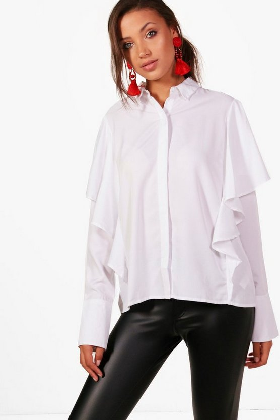 Tall Esme Ruffle Shirt