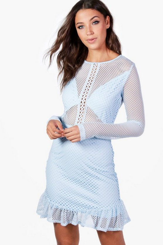 Tall Eva Premium Lace & Crochet Dress