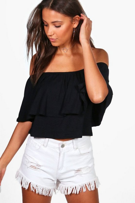 Tall Lily Frill Crop Top