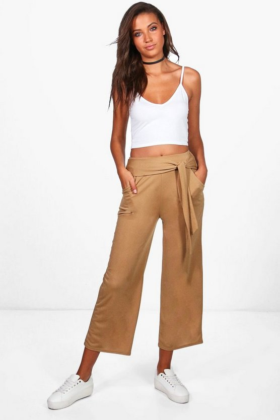 Tall Emily Tie Waist Culottes
