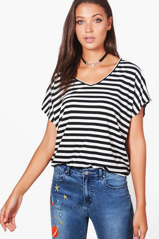 Tall Rosie Striped V-Neck T-Shirt