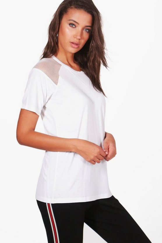 Tall Lila Mesh Panel T-Shirt