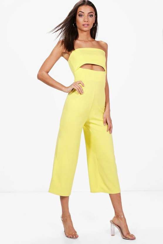 Tall Daphne Cut Out Culotte Jumpsuit