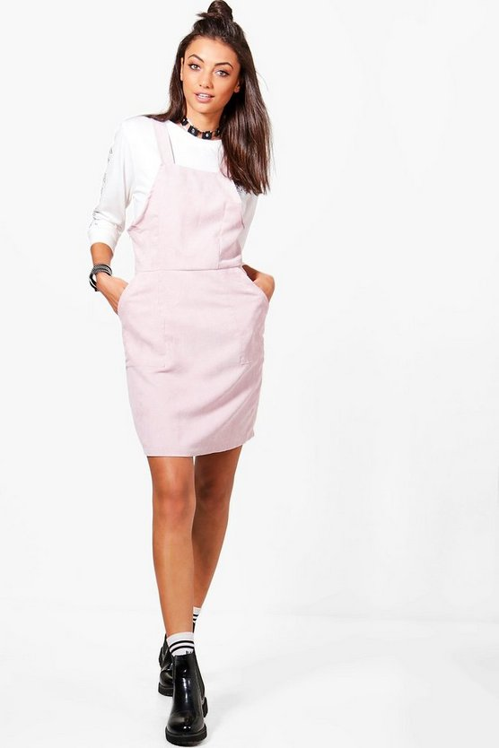 Tall Zahra Cord Pinafore Dress