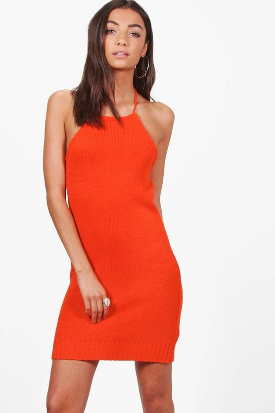 Tall Marina Halter Festival Knitted Dress