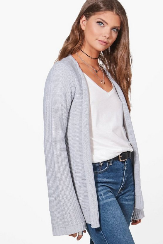 Tall Marlee Flute Sleeve Knitted Cardigan