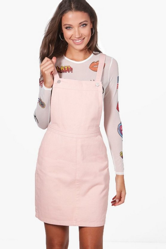 Tall Emily Pinafore Denim Dress