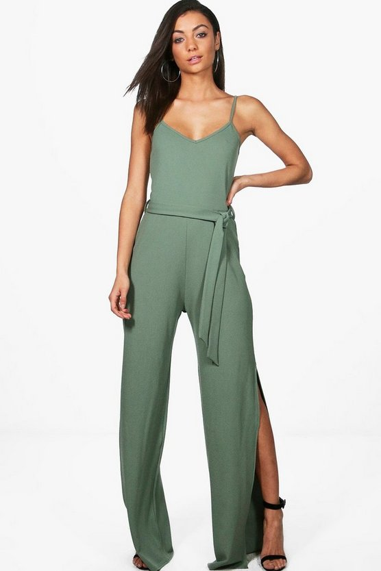Tall Tamra Split Wide Leg Jumpsuit