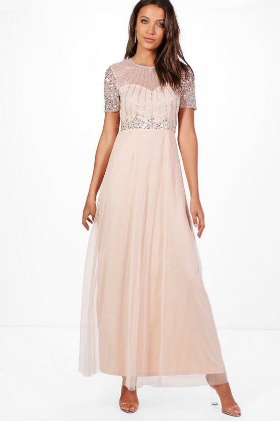 Tall Boutique Shira Embellished Maxi Dress