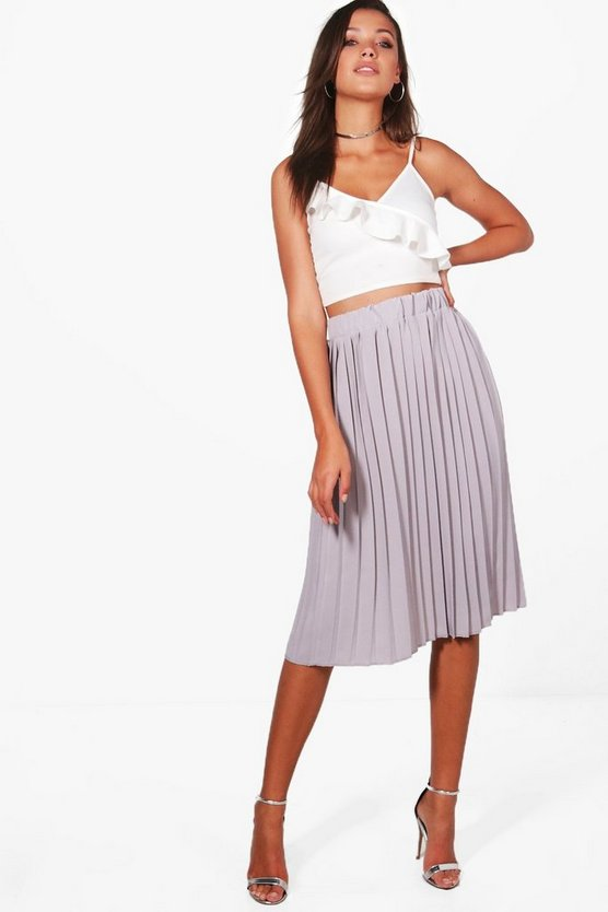 Tall Serene Premium Pleated Midi Skirt