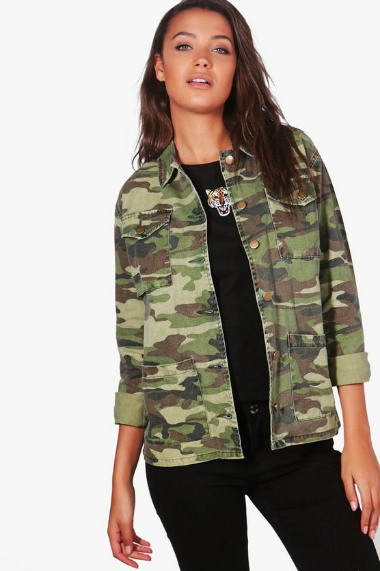 Tall veste camouflage