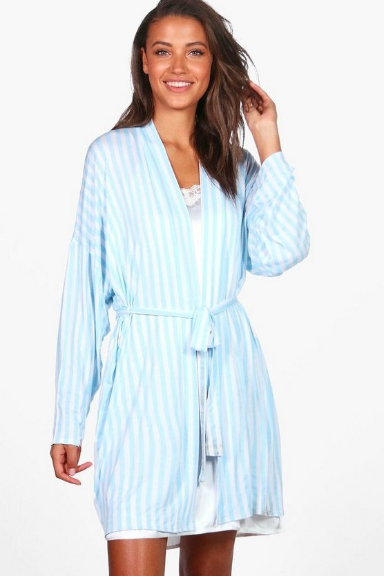 Tall Chana Striped Lounge Robe