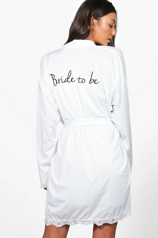 Tall Ceclia Bride To Be Slinky Robe