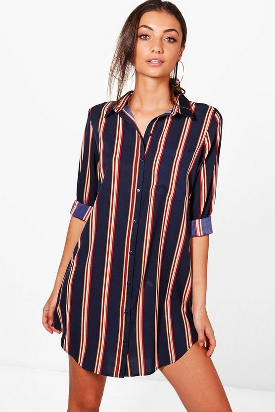 Tall Sarai Printed Shirt Dress