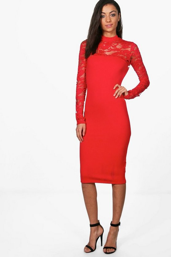 Tall Bella Lace Insert Dress