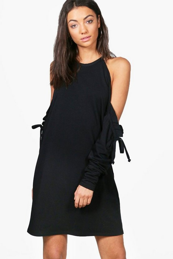 Tall Grace Cold Shoulder Sweat Dress