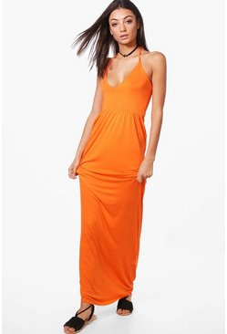 Tall Aryel Halter Neck Maxi Dress