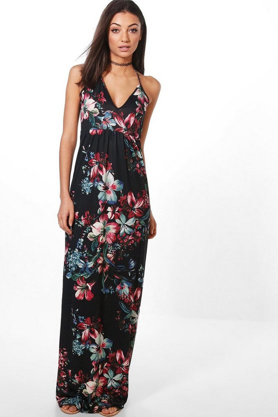 Tall Dark Floral Maxi Dress
