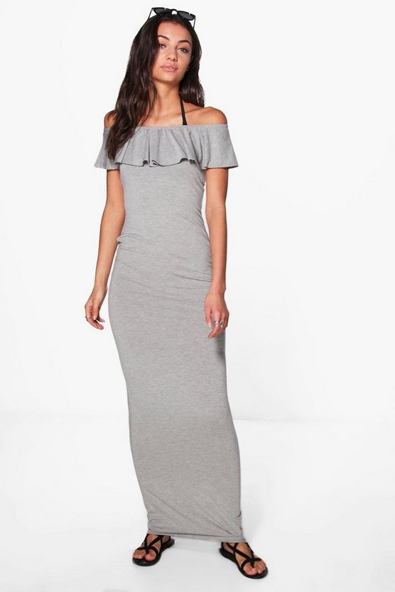 Tall Ellia Off The Shoulder Beach Maxi Dress