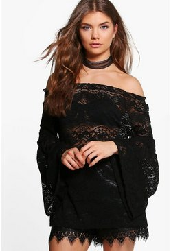 Tall Elena Flute Sleeve Lace Top