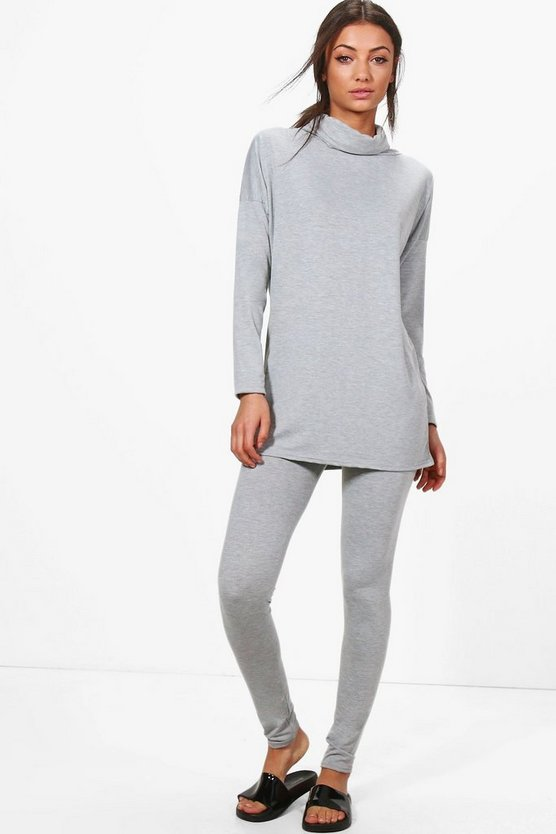 Tall Edana Roll Neck And Legging Lounge Set