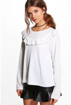 Tall Lilya Ruffle Front Top