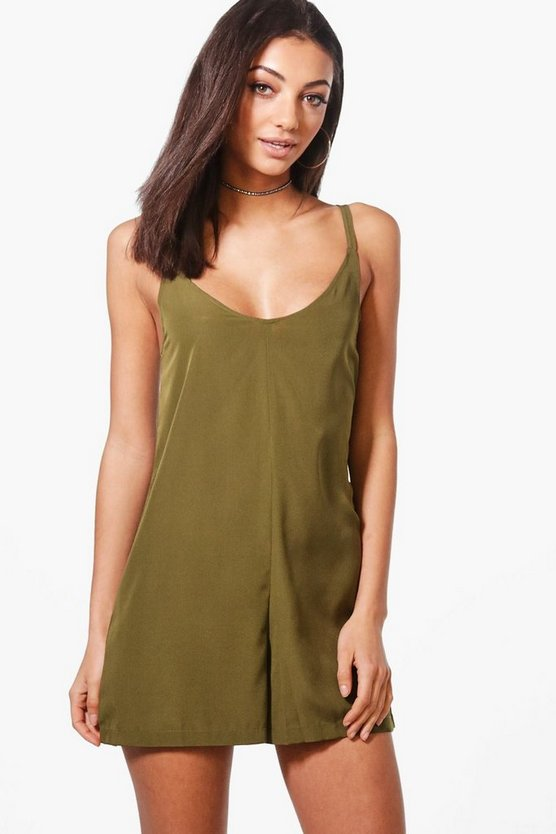 Tall Merida Woven Cami Playsuit