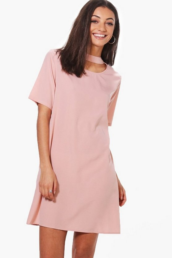 Tall Woven Choker Shift Dress