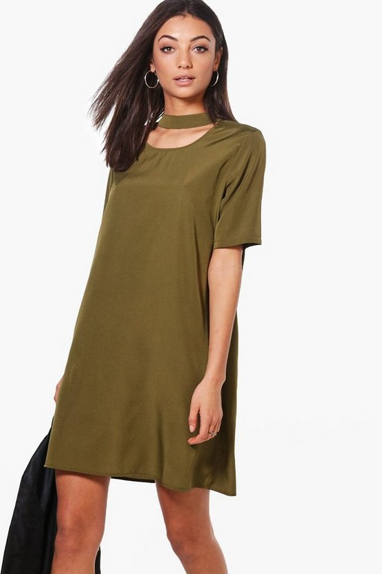 Tall Priya Woven Choker Shift Dress