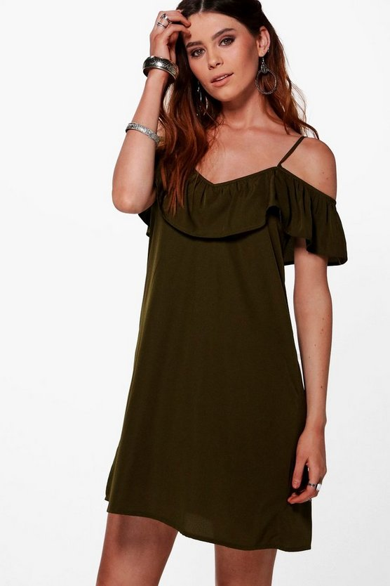Tall Alaya Ruffle Front Dress
