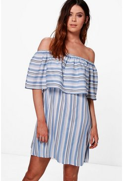 Tall Afia Large Frill Off The Shoulder Dress