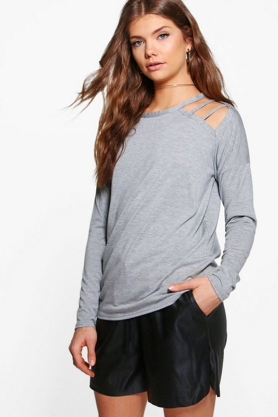 Tall Strappy Shoulder Oversized Top