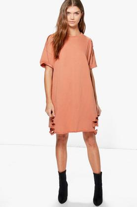 Tall Niamh Distressed Sweat Dress