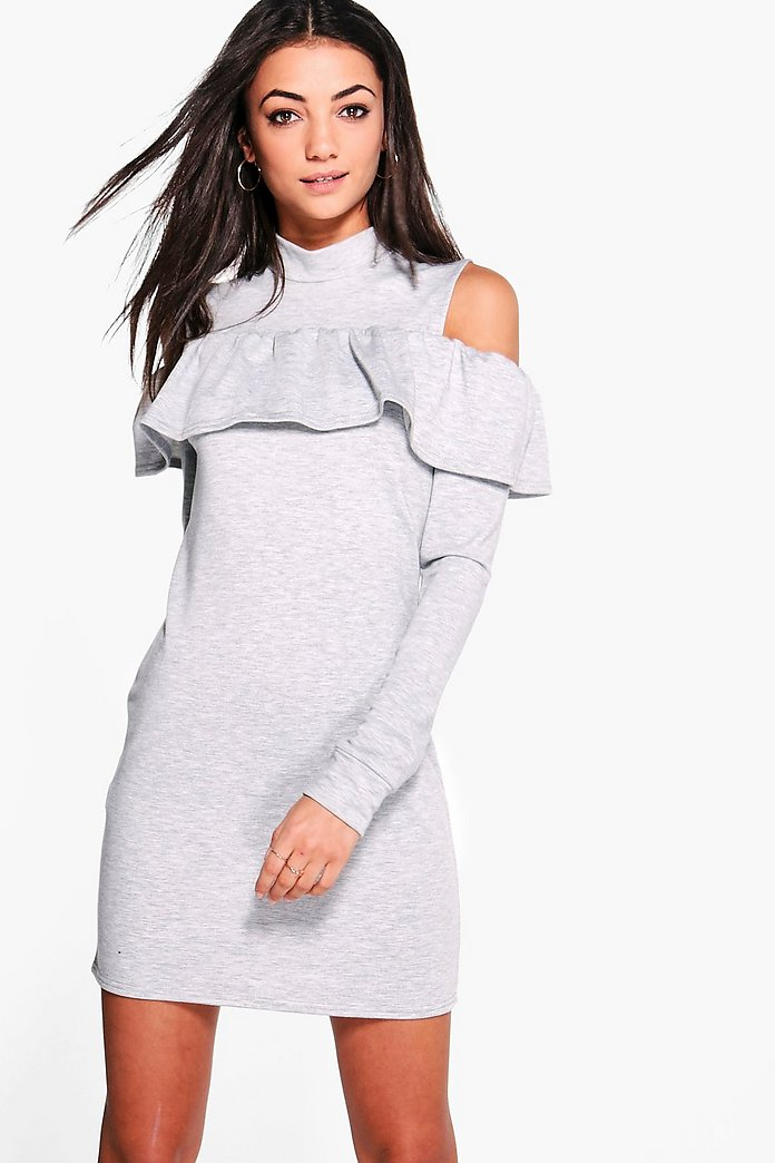 Tall Katalina Ruffle Top Sweat Dress