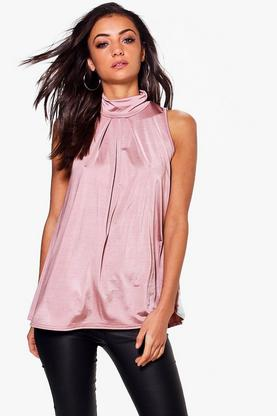 Tall Taura Slinky High Neck Top