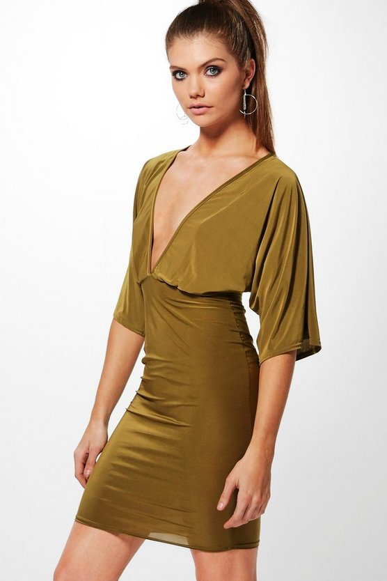 Tall Wide Sleeve Bodycon Dress