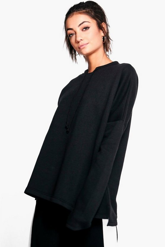 Tall Aurelia Tie Neck Sweatshirt