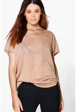 Tall Rhea Slub Oversized T-Shirt