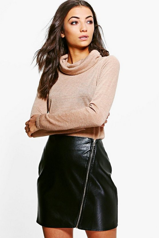 Tall Mia Slub Roll Neck Jumper