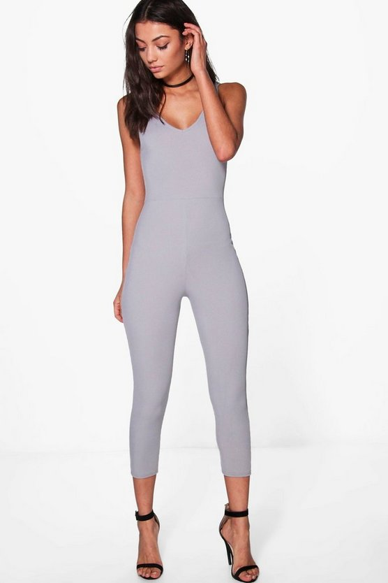 Tall Molly Ribbed Cropped Jumpsuit