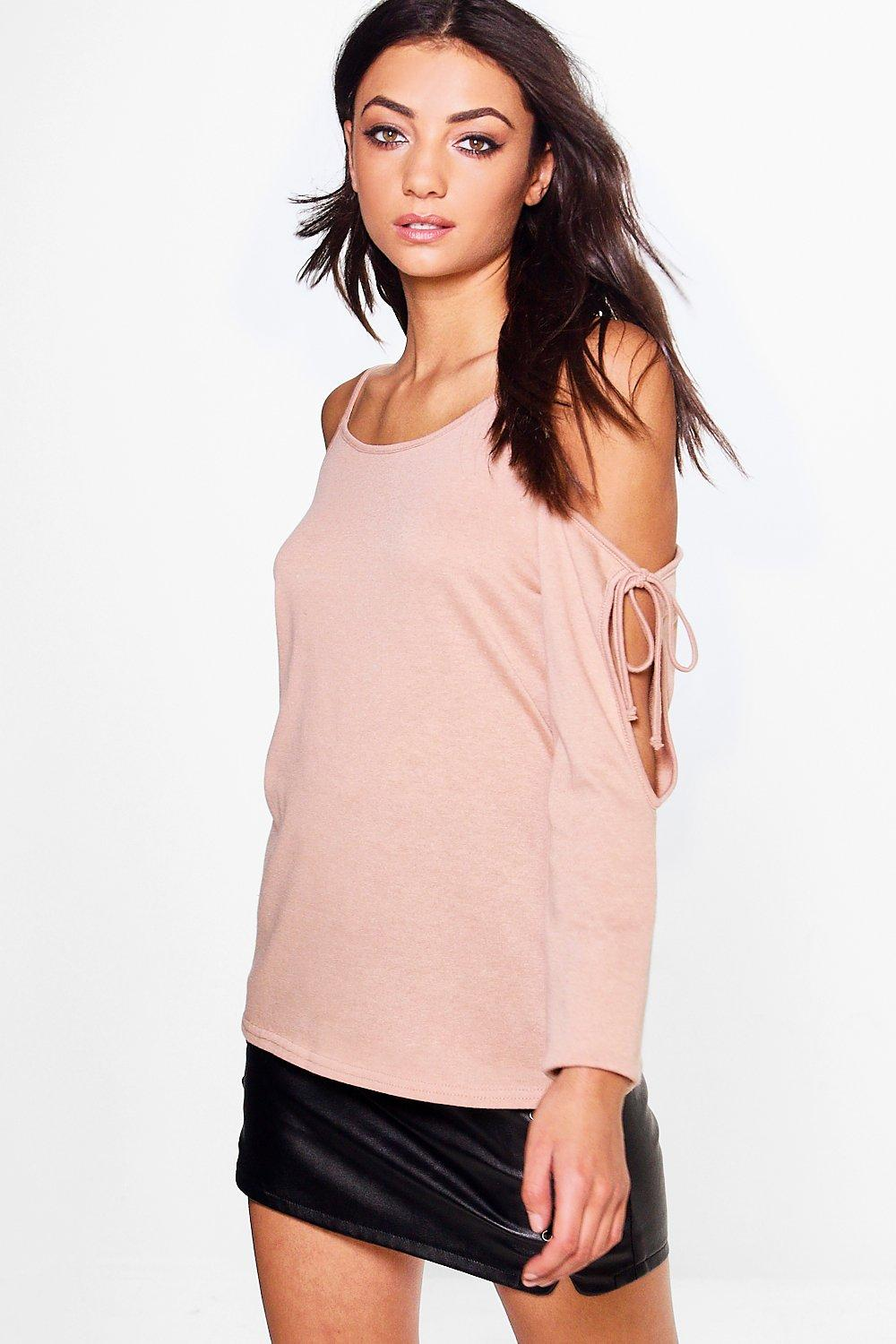 Tall Nerea Tie Cold Shoulder Jumper