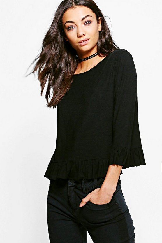 Tall Alena Ruffle Front Top