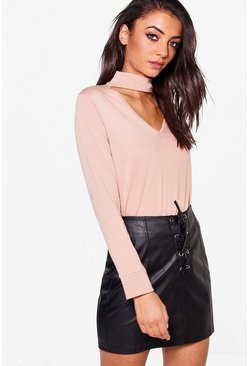 Tall Grace Choker Neck Jumper