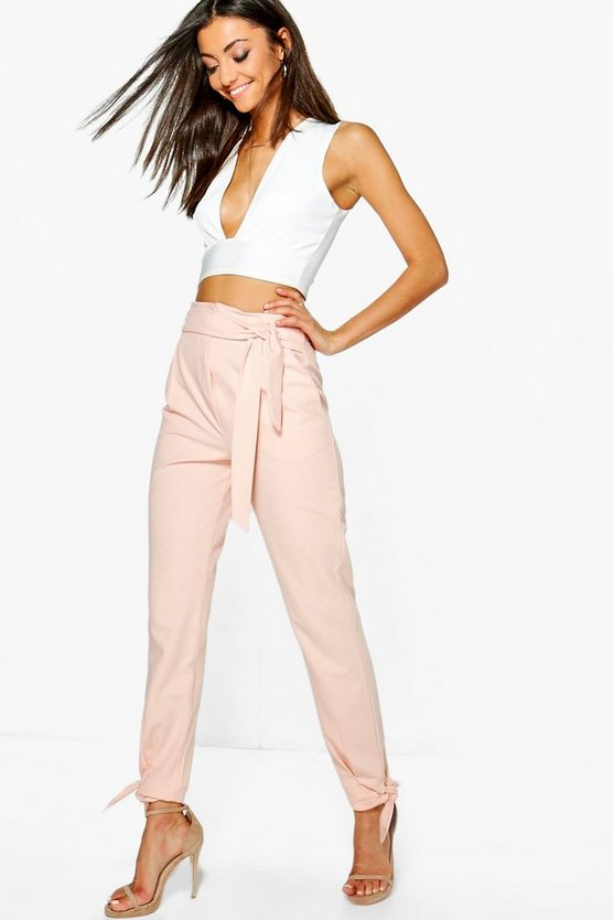 Tall Maia Woven Tie Tailored Trousers