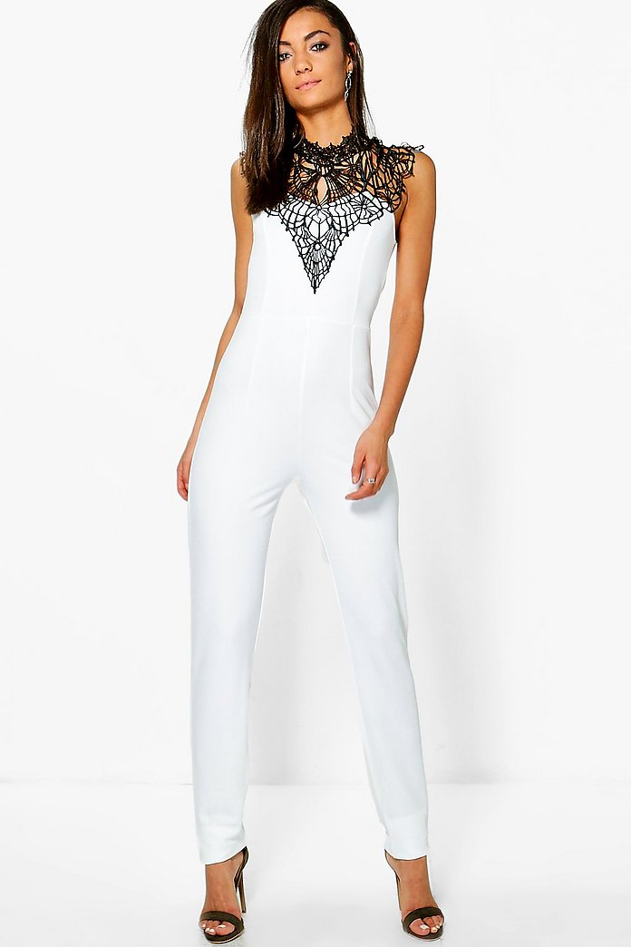 Tall Micha Caged Neck Sleeveless Jumpsuit