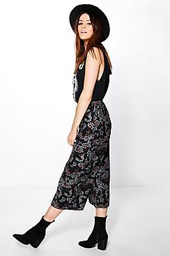 Tall Kasie Paisley Culotte