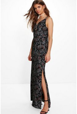 Tall Holly Paisley Maxi Dress