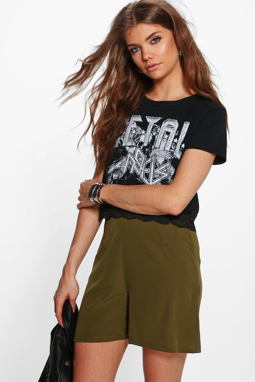 Tierra Woven Flippy Shorts  khaki